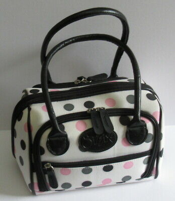 Sizzix Tote Bag - White with Pink / Black / Grey Spots - Please Read.