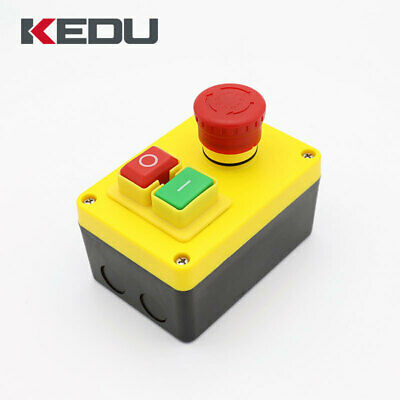 NVR Stop/Start Switch Button Universal KJD Lathe Mill Drill With Emergency