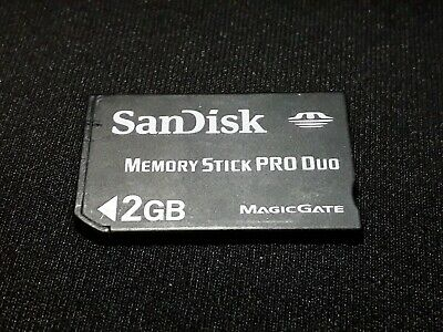2GB SanDisk Memory Stick Pro Duo Card For PSP Console + Digital Camera