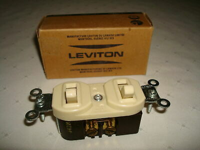 Vintage Leviton  Bakelite 2 Single Pole Quiet Toggle Switches New Old Stock