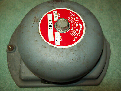 W. L. Jenkins Alarm Security Emergency Bell 1209P7 - looks unused 60DC .16 Amps