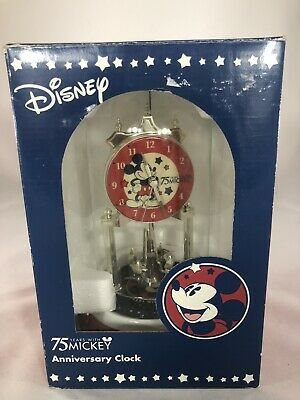 Disney Anniversary Clock With Mickey Mouse 75 Years With Mickey Mouse