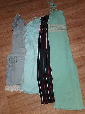 Girls Next Summer Bundle Age 9 dungerees play suits trousers Vgc
