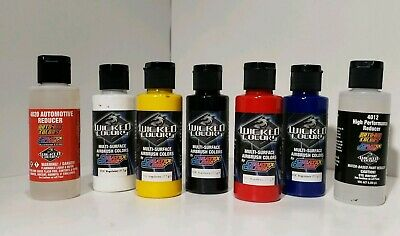 Lot of CREATEX COLORS- Multi- Surface Airbrush Colors- WICKED COLORS