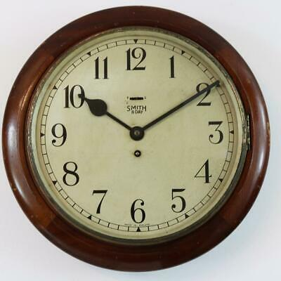"""SMITH EMPIRE 12"""" DIAL wall  CLOCK schoolhouse, railway, office, station type"""