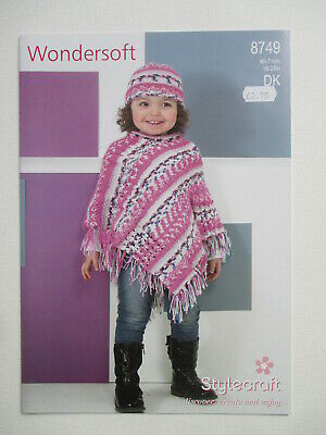 "Stylecraft 4980 Amore Dk Knitting Pattern Girls 22-32/"" Chest Jacket /& Scarf"
