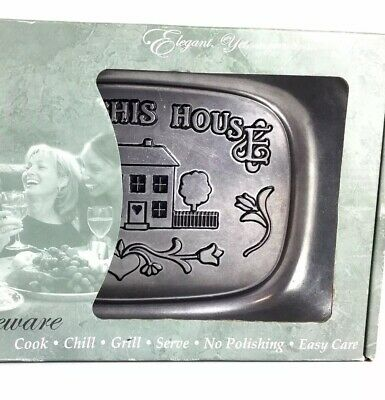 Wilton Armetale Serveware Bless this House Pewter Serving Dish New Open Box