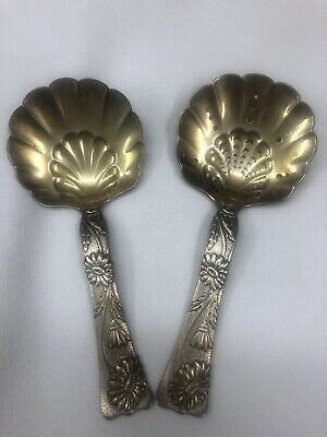 Antique Tiffany and Co Sterling Silver Bon Bon Spoons Vine-Multi Motif