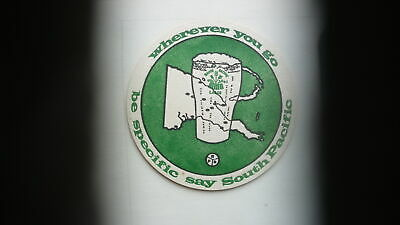 1960s AUSTRALIAN BEER WINE SPIRITS COASTER SOUTH PACIFIC LAGER