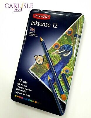 Derwent Inktense Watersoluble Pencils, 12 Tin Set