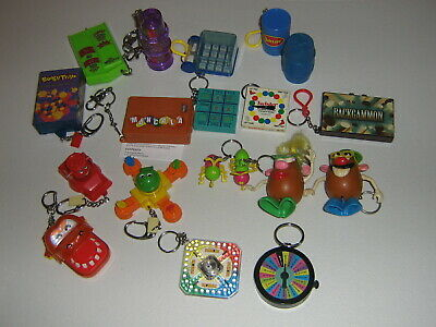 Lot of 18 Vintage Classic Board Game Keychains 1996-2001 Complete Working
