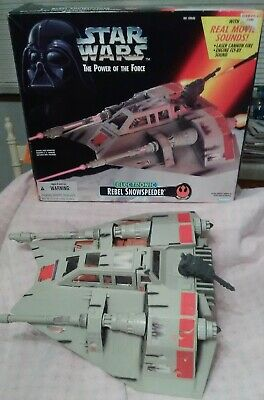 Star Wars Snowspeeder - Electronic Lights and Sounds w/ Box - Kenner POTF2 - KB