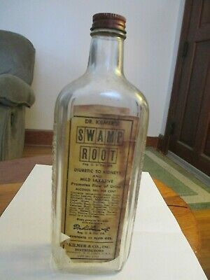 DR KILMER'S SWAMP ROOT liver Cure Dieuretic To Kidneys,Laxative,1940's Rare