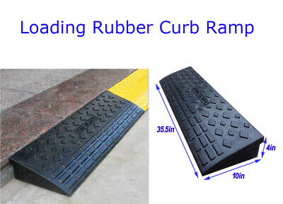 4/'/' Rubber Loading Dock Rubber Curb Ramps 20 Ton Car Ramp Safety Tool