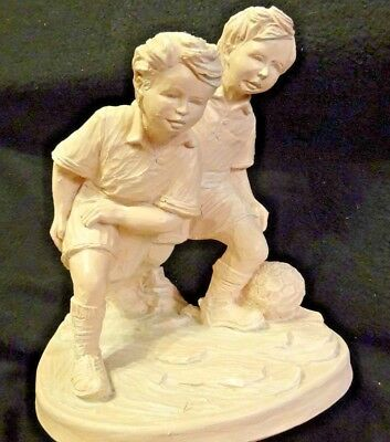 Largo Kid Playing Soccer Tabletop Sculpture Statue Signed Limited Edition
