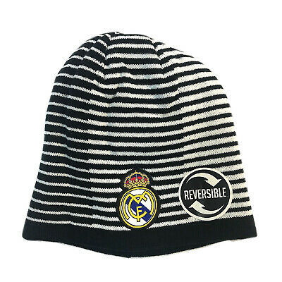 Real Madrid Jacket and Beanie hat Mens New Season Colors Navy Black Grey Navy Men Soccer Official Licensed Winter 2019-20 RM2