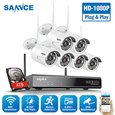 SANNCE Wireless Full 1080P Security IP Camera System 8CH NVR WIFI Night Vision