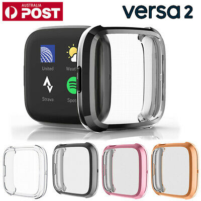 Silicone Case Soft TPU Protective Shell Full Cover for Fitbit Versa 2 watch 2019