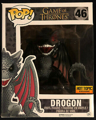 Funko Pop DROGON 46 Hot Topic Exclusive RED EYES - NEAR MINT BOX Game of Thrones