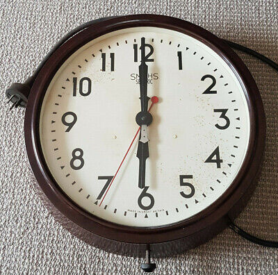 Smith Bakelite SECTRIC DELHI MAJOR Vintage Wall Clock - MADE IN ENGLAND