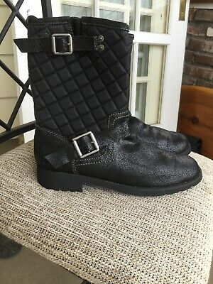 Calvin Klein BILLY unisex women men boots leather quilted shoes size 9US/42EU