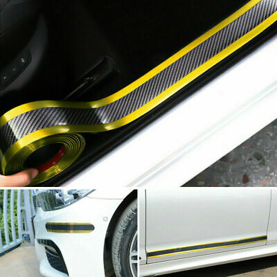 Car Anti-Collision Side Door Edge Rubber Bumper Protection Stickers Strips Gold