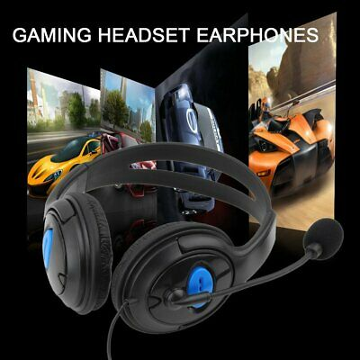 DELUXE BLACK HEADSET HEADPHONE WITH MIC VOLUME CONTROL FOR PS4 XBOX ONE GAMERSv