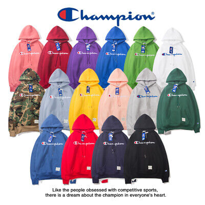 2019 Women's Men's Classic Champion Hoodies Embroidered Hooded Sweatshirts New