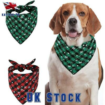 Christmas Xmas Bandana-Style Pet Dog Collars Cat Puppy Neck Scarf Neckerchief
