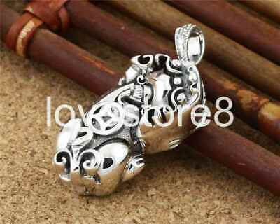 Pure S925 Sterling Silver Retro Chinese Style Brave Troops Pendant No Chain