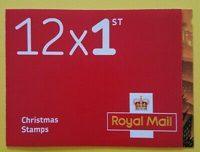 2019 CHRISTMAS 12 x 1ST CLASS STAMP CYLINDER BOOKLET - Issued 5th November 2019