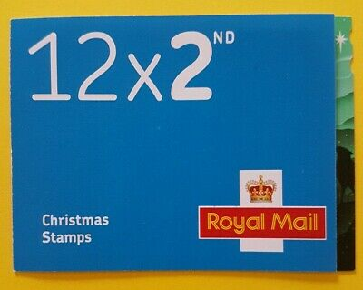 2019 CHRISTMAS 12 x 2ND CLASS STAMP CYLINDER BOOKLET - Issued 5 Nov 2019