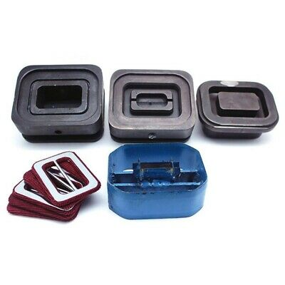 4pcs Fabric Covered Button Dies Mold Set for Slider Buckle Press Machine