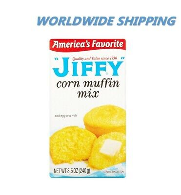 Jiffy CORN Muffin Baking Mix 8.5 Oz CORN BREAD 2 BOXES WORLDWIDE SHIPPING