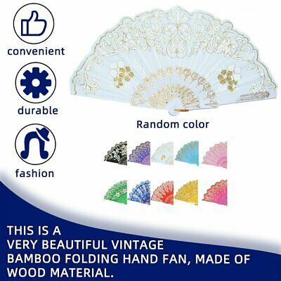 Spain Style Compact Summer Folding Hand Held Fan Chinese Dance Party Fan#^