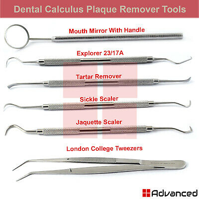 Dental Tartar Removing Instrument Calculus Plaque Remover Tooth Scraper Explorer