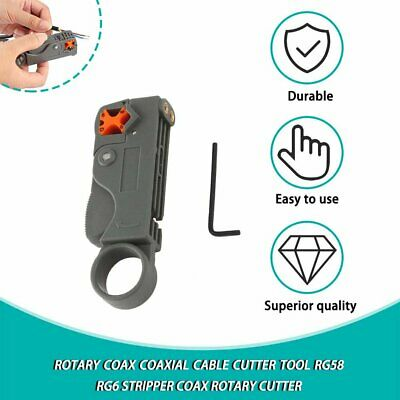 Rotary Coax Coaxial Cable Cutter Tool RG58 RG6 Stripper Coax Rotary Cutter#^