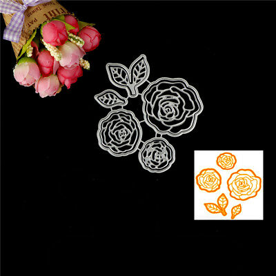 Rose Flower Design Metal Cutting Die For DIY Scrapbooking Album Paper JC R8Y