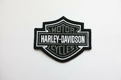Harley Davidson Classic Gray Logo Sew-on Patch (Small)  embroidery