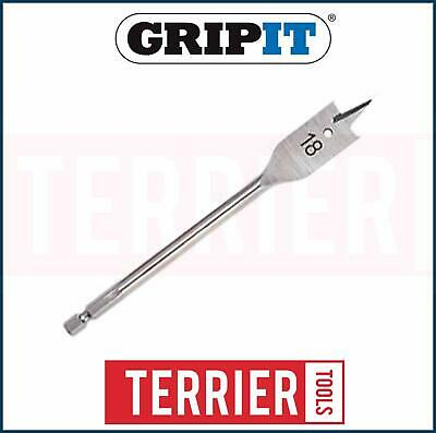 GripIt 18mm Premium Flat Drill Bit Suitable For Red Grip Its Wood Plasterboard
