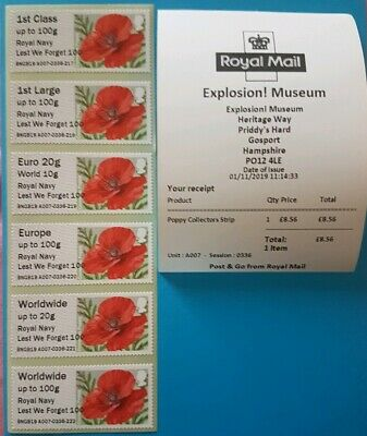 2019 Explosion ' Lest We Forget 100 O/P- Fdi - Poppy Collector / 1St Strips
