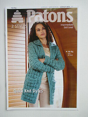 KNITTING PATTERN LADY'S Fab DK Textured Sweater Bust Size 76