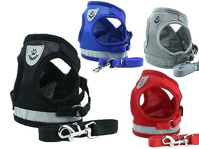 Reflective Adjustable Dog Harness Puppy Pet Dogs Vest Free Rope