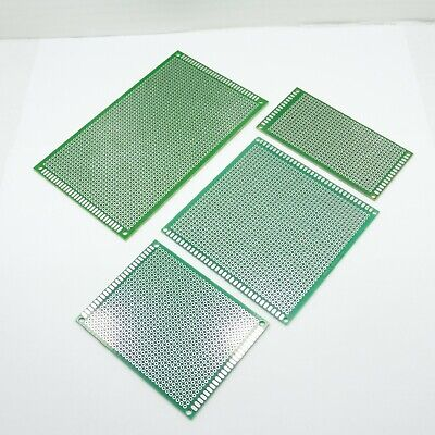 Single Sided PCB Prototype Circuit Fiber Glass Boards 2.54mm Drilled Holde FR-4