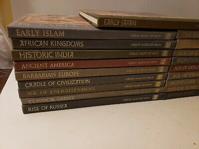 TIME-LIFE:  GREAT AGES OF MAN 19 volume Lot history HC EUC