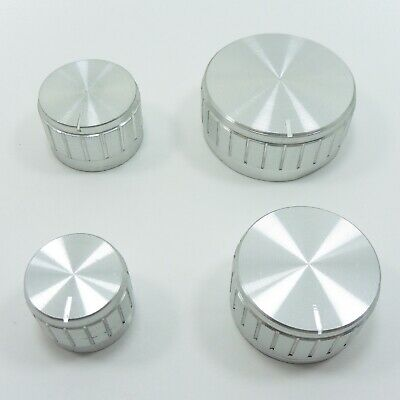 Silver Aluminum Potentiometer Rotary Knob 6mm Control Switch Cap Sound Volume