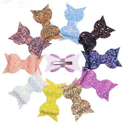 Fashion Bow Hair Clips Glitter Kids Bowknot Hairpins Girl Headwear Barrettes s