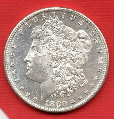 1880 Usa Silver Morgan Dollar Coin. San Francisco Mint. United States Of America