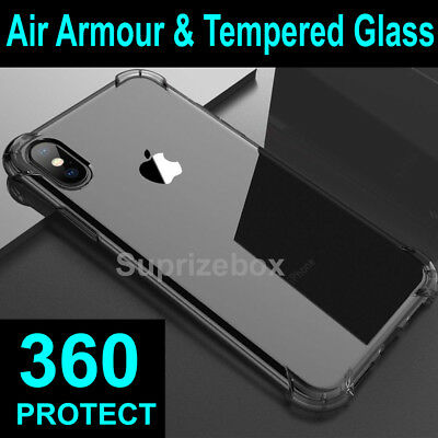360 Case For iPhone 11 Pro Max XR 7 6 Cover Silicone Shockproof Screen Protector