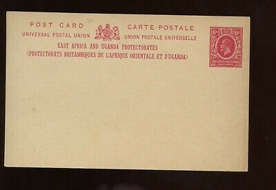 British Commonwealth East Africa & Uganda KEVII 6c Postal Card UNUSED